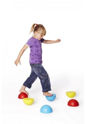 Plastikiniai pusrutuliai balansavimui Gonge® (6 vnt)