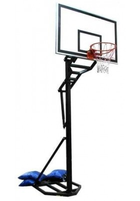 Krepšinio stovas su aukščio reguliavimo mechanizmu