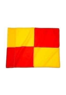 Futbolo kampinių vėliavėlė raudona - geltona