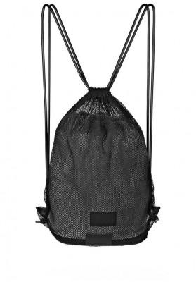 juodas tinklinis krepšelis - kuprinė