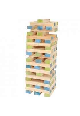 Medinių kaladėlių bokštas