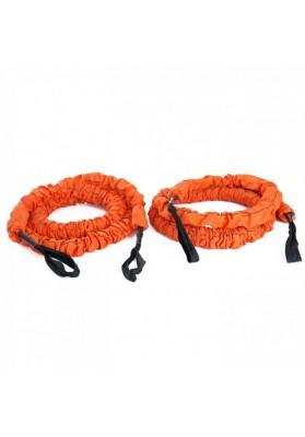 Dvi oranžinės elastinės jėgos virvės STROOPS