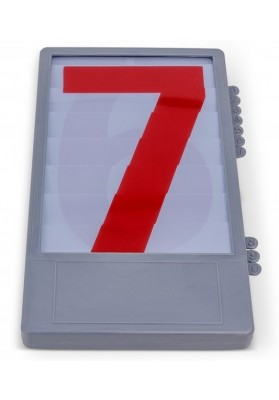 Manual digit case for score boards