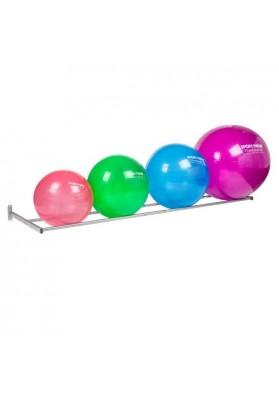 Gym ball wall storage system