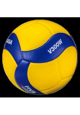 Tinklinio kamuolys MIKASA V300W mėlynas - geltonas