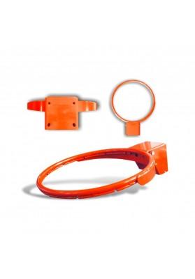 Sustiprintas oranžinis krepšinio lankas su spyruoklėmis