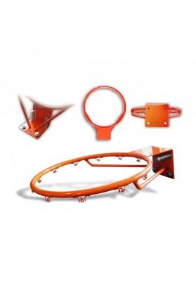 Oranžinis krepšinio lankas su amortizuojančia sistema