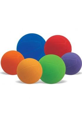 Guminiai svoriniai kamuoliai įvairių spalvų ir dydžių