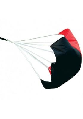 Juodas raudonas jėgos parašiutas
