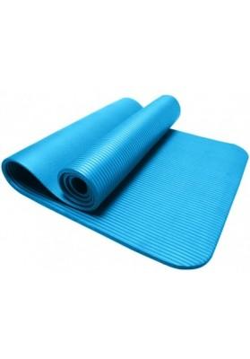 Mėlynas sulankstytas mankštos kilimėlis