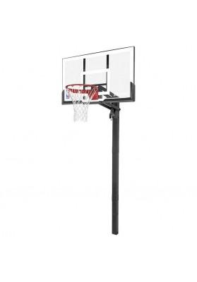 Įbetonuojamas Spalding krepšinio stovas permatoma lenta