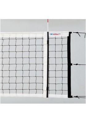 Varžybinis tinklinio tinklas juodas su baltais kraštais