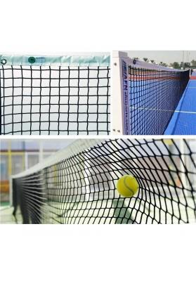 Lauko teniso kamuoliukas atsimuša į tinklą