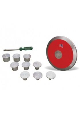 Reguliuojamo svorio diskas su svareliais
