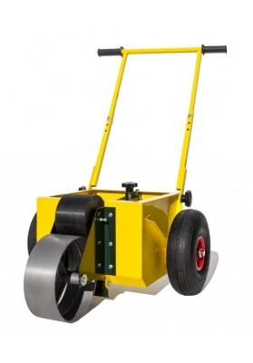 Geltonas vežimėlis volas linijų žymėjimui