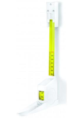 Kabinama ištraukiama balta ūgio matuoklė