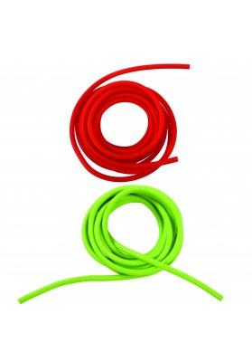 Susuktos pasipriešinimo gumos raudona ir žalia