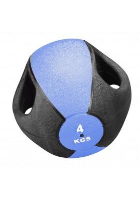 Mėlynas 4 kg. svorinis kamuolys su rankenomis Trendy