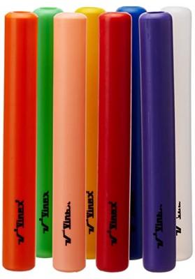 8 spalvotos plastikinės estafečių lazdelės
