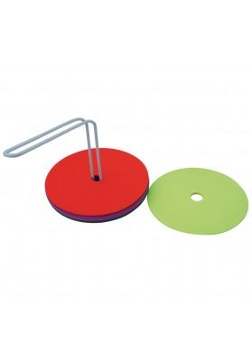 Plokšti guminiai žymekliai su stovu