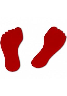 Plokšti žymekliai raudoni pėdutės