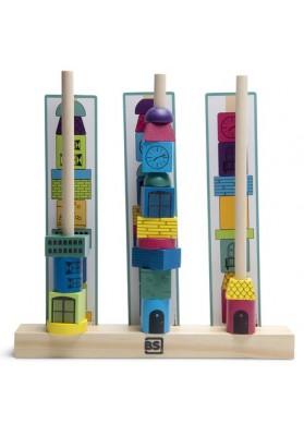 Žaidimas - dėlionė mediniai bokštai